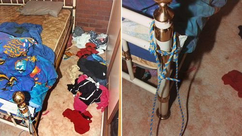 Williamson used a rope to keep Kyhesha locked in her room while he slept all day, the court heard. (AAP)