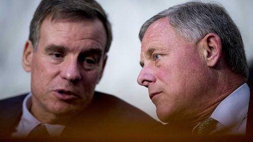 The top senators on the Intelligence Committee, Democrat Mark Warner and Republican Richard Burr.