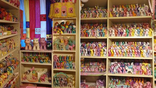 Ms Moore says some friends who have visited the 'pony room' said it felt like 1000 eyes were staring at them.