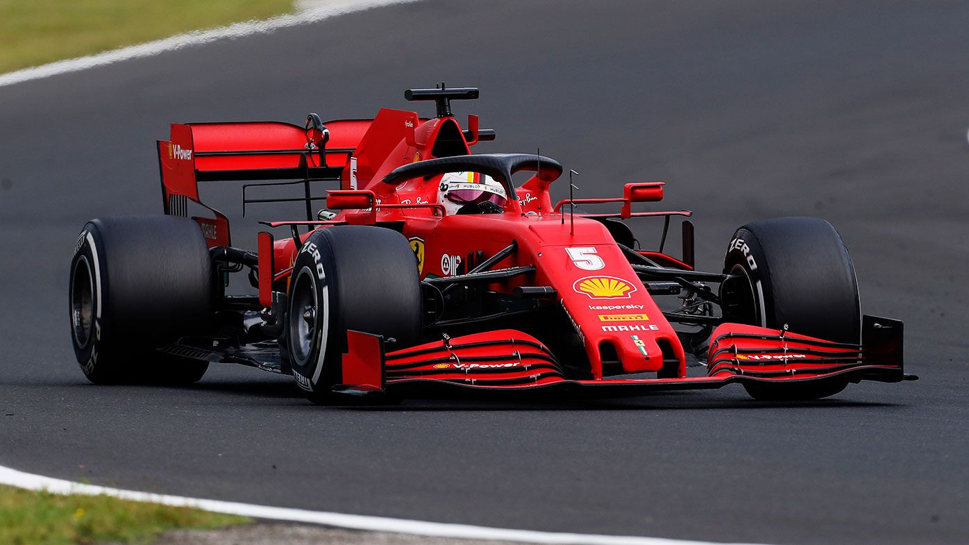 Sebastian Vettel in action at the Hungarian Grand Prix.