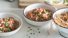 Dr. Joanna McMillan's tuna chilli spaghetti recipe