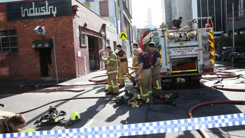 Metropolitan Fire Brigade crews have extinguished the fire which broke out inside the vacant building. (AAP)