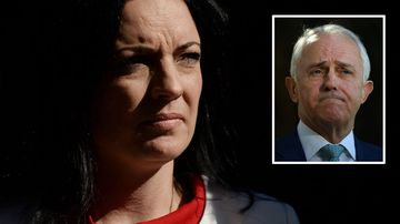 Emma Husar Labor MP and Malcolm Turnbull inset