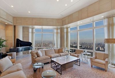 Her sumptuous pad overlooks NYC.