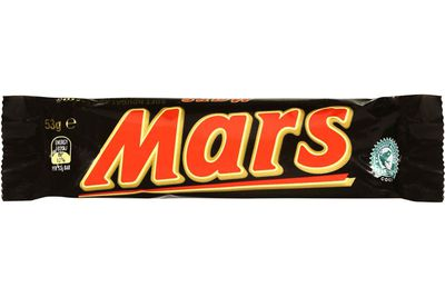 Mars Bar (53g): 30.6g sugar