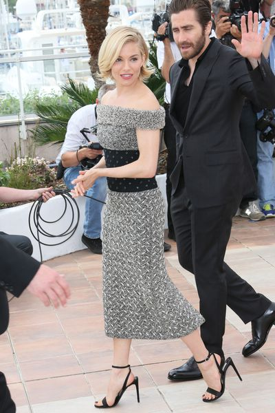 <p>Sienna is on the festival's judges panel. For her first jury duty photo call she went for a sophisticated Balenciaga dress from the Fall 2015 collection.&nbsp;</p>