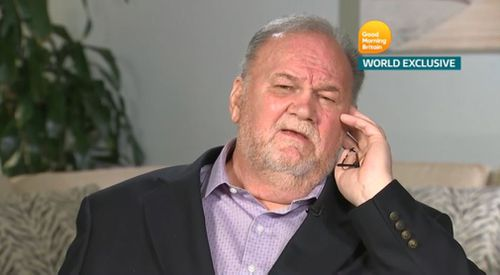Mr Markle gave a revealing 30 minute interview. Picture: Good Morning Britain