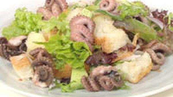 Octopus, chilli and cucumber salad