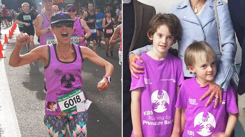 Volunteer babysitters help widowed Sydney mum train for charity marathons