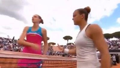 Pliskova fined over racket tantrum