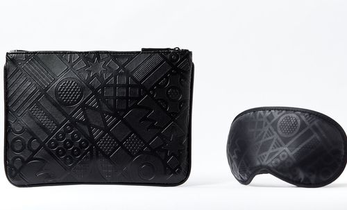 Leather brand Oroton has made the amenities kits for the new route.