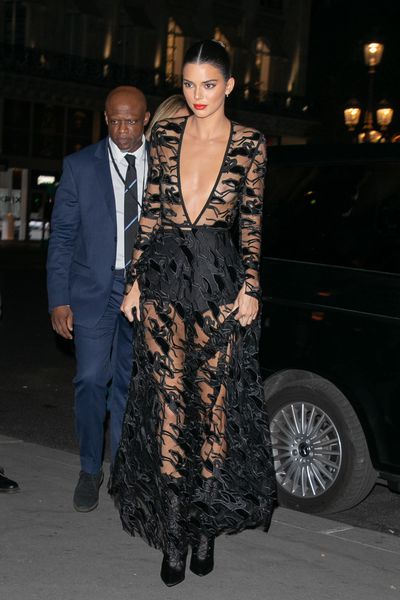 Kendall Jenner Stuns In Jaw Dropping Sheer Dress 9style