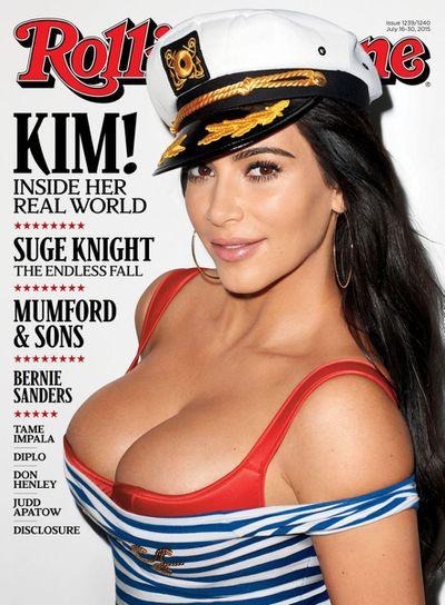 <p><strong><em>Reality TV Rock Star</em></strong></p> <p>Kim Kardashian,<em> Rolling Stone </em>July 2015</p>