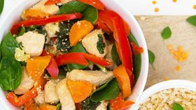 Fussy-eaters' chicken and vegetable stir-fry