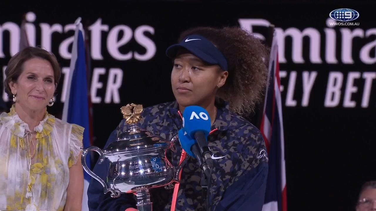 Naomi Osaka charms crowd with beautiful victory speech after winning Australian Open