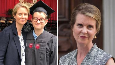 Cynthia Nixon celebrates transgender son amid New York run