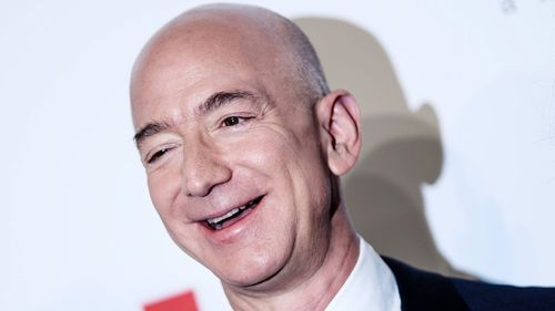 Amazon chief executive Jeff Bezos is now officially worth more than $150 billion. Picture: AAP