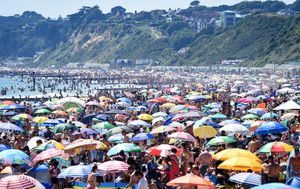Heatwave sends Brits to the beach in droves despite COVID-19