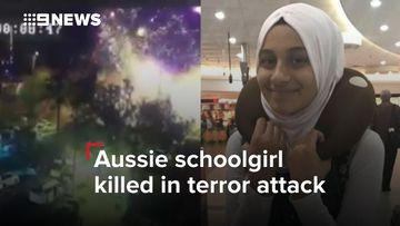 Aussie schoolgirl killed in terror attack