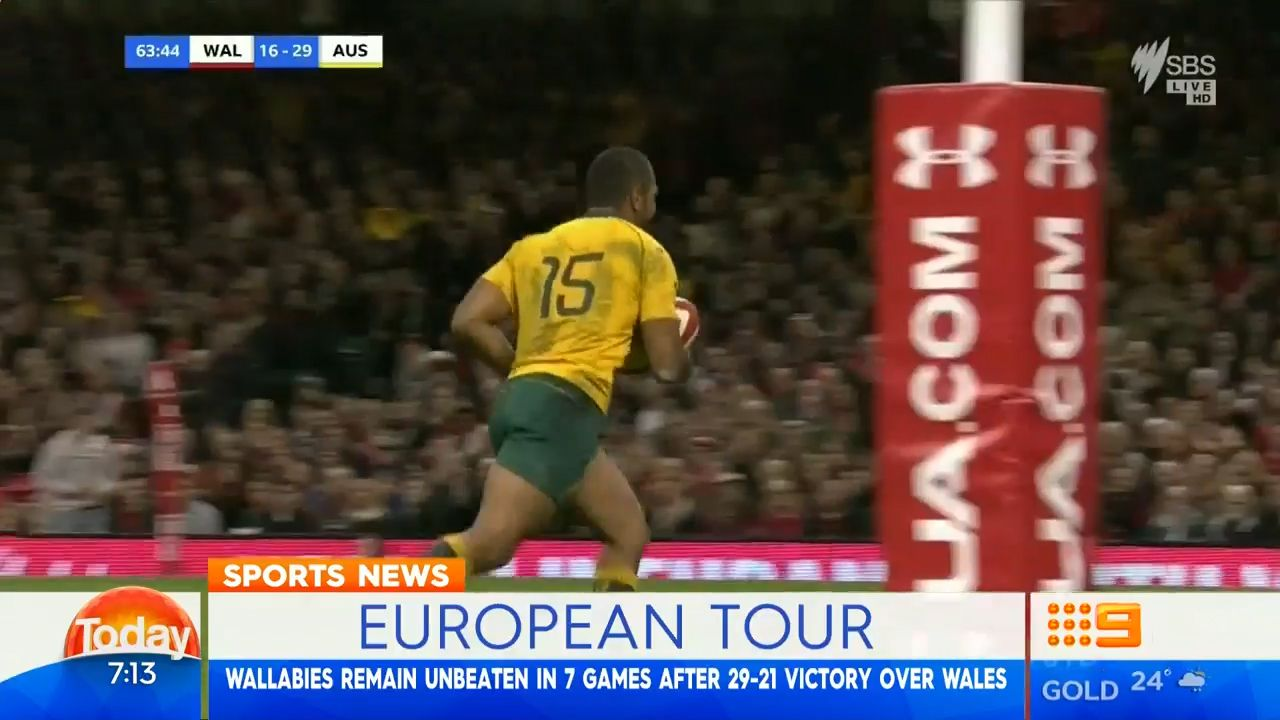 TODAY: Wallabies defeat Wales