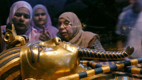 The golden mask of Egypt's famous King Tutankhamun.