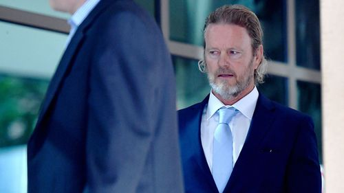 Craig McLachlan arriving to face his sexual assault case in Melbourne Magistrates Court.