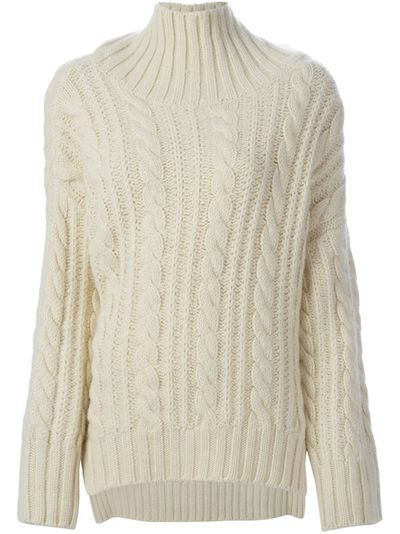 "<a href=""http://www.farfetch.com/au/shopping/women/viktor-rolf-cable-knit-turtleneck-sweater-item-11109600.aspx?storeid=9169&from=1&ffref=lp_pic_3_4_"" target=""_blank"">Victor & Rolf cable knit, $3978.75, from Farfetch.com</a>"