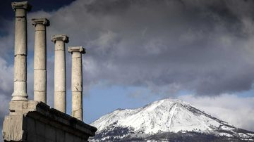 Mount Vesuvius' eruption in 79 AD wiped out the city of Pompeii.