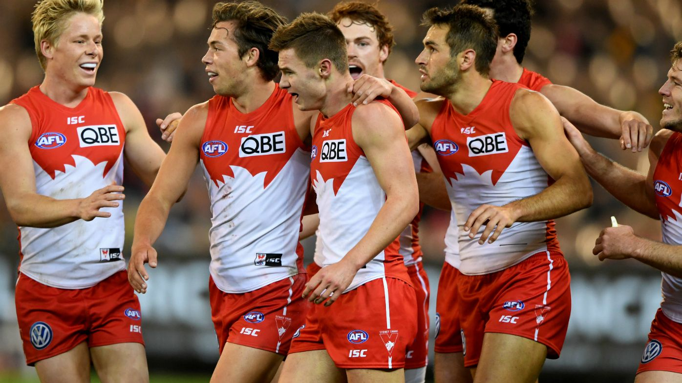 Young star Ben Ronke boots seven as Sydney Swans shock Hawthorn