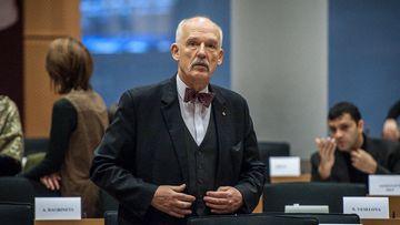 Member of European Parliament (MEP) Janusz Korwin-Mikke. (AFP)