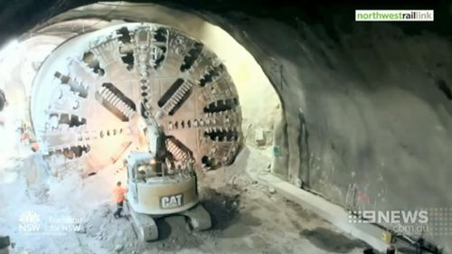 Pressure is on to get construction right so that the tunnel does not leak. (9NEWS)