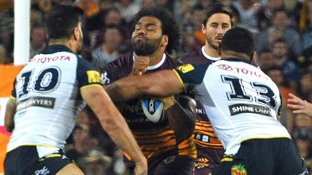 Sam Thaiday in action during the 2015 Grand Final. (AAP)