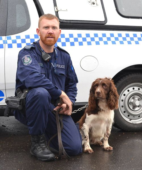 Police officer Luke Warburton was shot in the pelvis with his own gun.