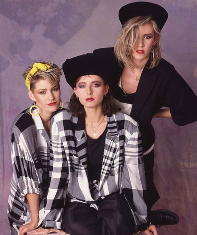 Bananarama portrait, London, 1984 (L-R Siobhan Fahey, Keren Woodward, Sara Dallin)