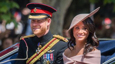 "Trooping the Colour: Prince Harry and Meghan Markle<span style=""white-space:pre;"">			</span>"