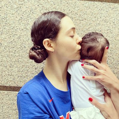 Emmy Rossum shares first photo with her baby daughter.