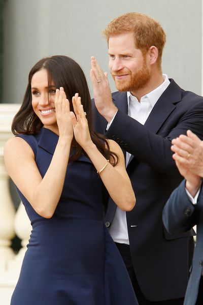 Meghan Markle and Prince Harry in Melbourne, Thursday October 18 2018