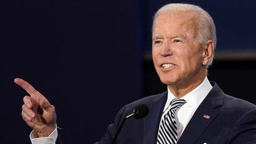 Joe Biden hit back at Donald Trump's interruptions by telling him to 'shut up'.