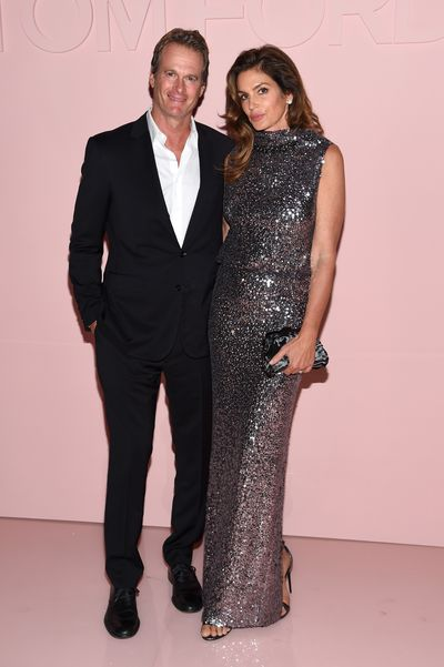 Cindy Crawford and husband Rande Gerber at Tom Ford, ready-to-wear, spring '18, New York Fashion Week