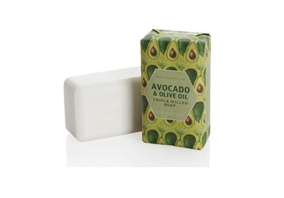 """<a href=""""http://www.crabtree-evelyn.com.au/p-834-avocado-olive-oil-milled-soap-158g.aspx"""" target=""""_blank"""">Avocado and Olive Oil Triple Milled Soap, $14, Crabtree & Evelyn</a>"""