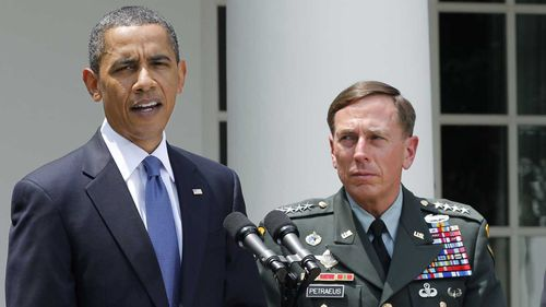 President Barack Obama and David Petraeus.