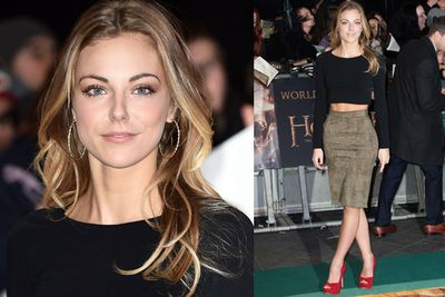 James Nesbitt's daughter Peggy works the green carpet.
