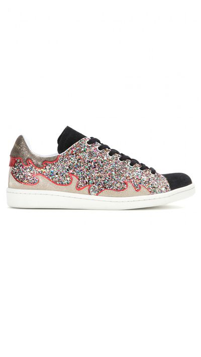 """<a href=""""http://www.mytheresa.com/en-au/gilly-glitter-sneakers.html"""" target=""""_blank"""">Sneakers, $605, Isabel Marant at mytheresa.com</a>"""