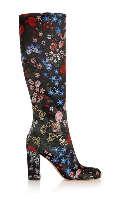 "<p><a href=""http://www.net-a-porter.com/au/en/product/587275"" target=""_blank"">Spring Garden Brocade Knee Boots, $2002, Valentino at net-a-porter.com</a></p>"