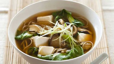 "For an easy change of pace on a hot day, simply chill the broth from our <a href=""http://kitchen.nine.com.au/2016/06/16/11/26/weight-watchers-tofu-and-mushroom-miso-soup"" target=""_top"">tofu and mushroom miso soup</a> down before serving. Simple and so tasty."