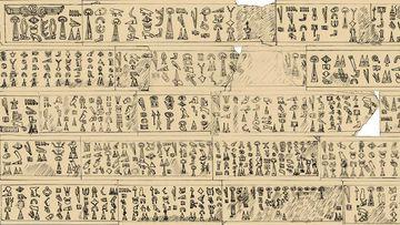 Part of the transcription of the 29m hieroglyphic inscription. (Luwian Studies Foundation)