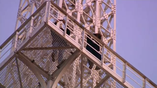 Witnesses said they saw the two taking selfies from the crows nest of the 111 metre tall AWA Tower