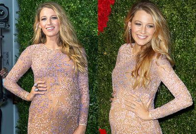 It's not the Oscars, but Blake looks like she's dressed for them at God's Love We Deliver's Golden Heart Awards in NYC.