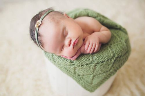 Abigail was born with a full head of hair. (Mary Huszcza/8.08 Photography)