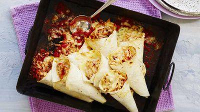"""Recipe: <a href=""""http://kitchen.nine.com.au/2017/09/28/16/55/chicken-carnival-cones"""" target=""""_top"""">Chicken carnival cones</a>"""